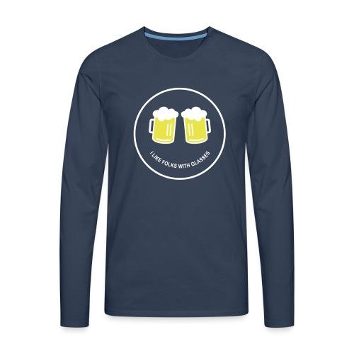 Bier Smiley – Oktoberfest – Bierzelt – Aprèski - Männer Premium Langarmshirt