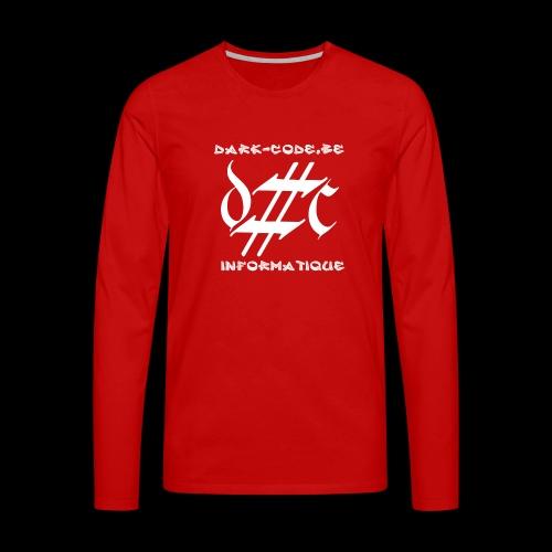 Dark-Code Gothic Logo - T-shirt manches longues Premium Homme