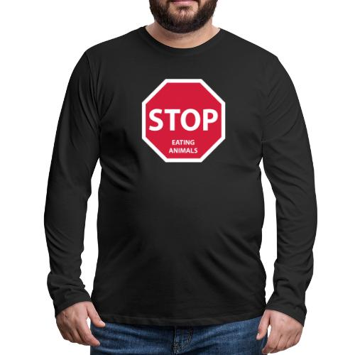 Stop-Eating-Animals - Männer Premium Langarmshirt