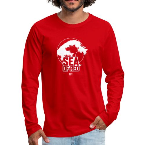 Sea of red logo - white - Men's Premium Longsleeve Shirt