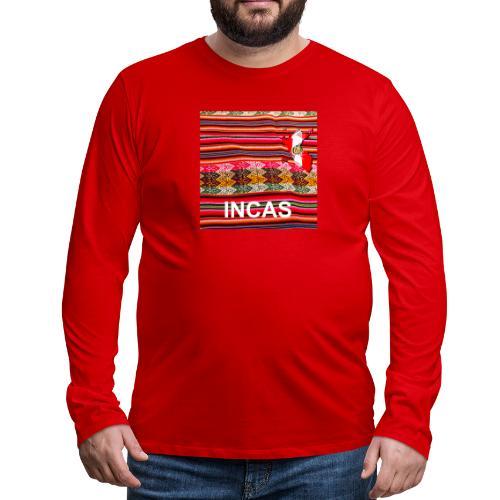 Telar inca Mapa del Peru - T-shirt manches longues Premium Homme