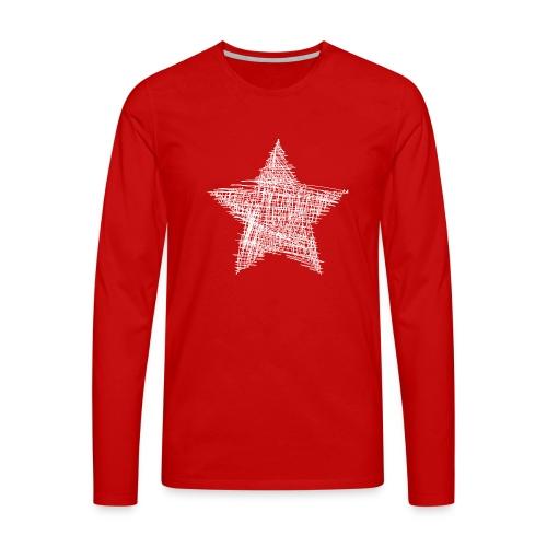 Estrella blanca - Camiseta de manga larga premium hombre
