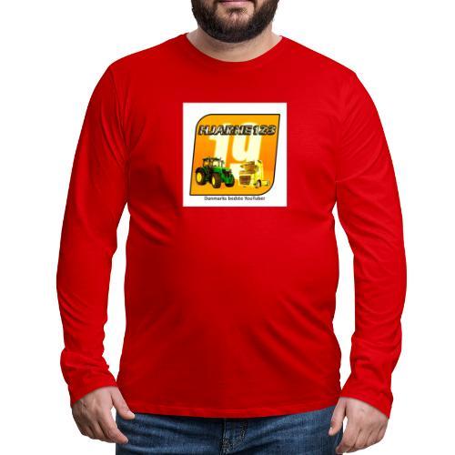 hjarne 123 danmarks bedeste youtuber - Herre premium T-shirt med lange ærmer