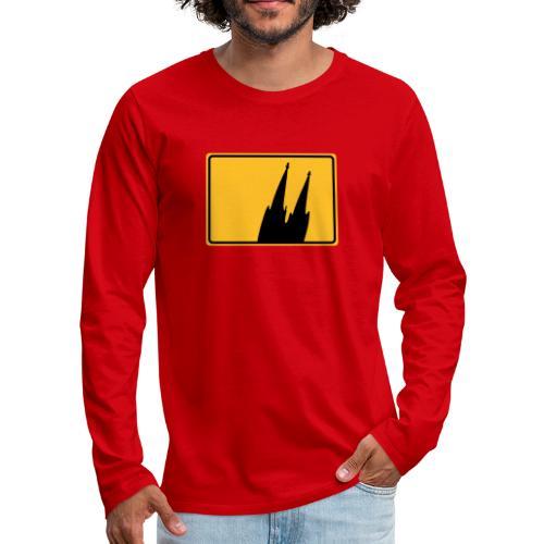 Kölner Dom Köln Ortsschild - Männer Premium Langarmshirt