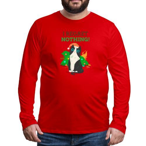 Julegenser med katt - I regret nothing - Premium langermet T-skjorte for menn