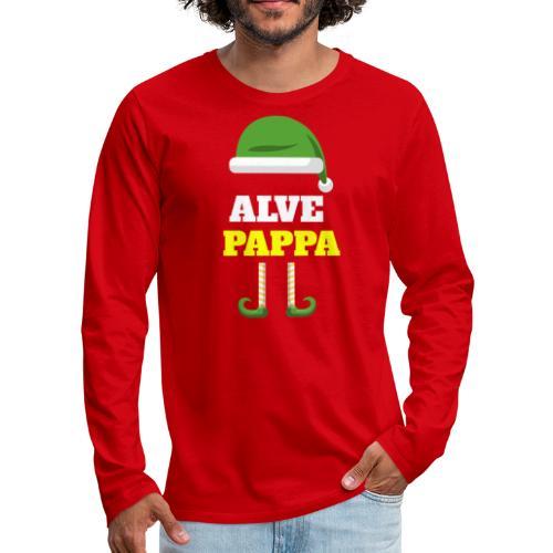 Alvepappa - Premium langermet T-skjorte for menn