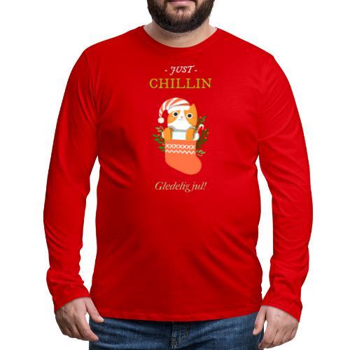 Just chillin - Gledelig jul - Premium langermet T-skjorte for menn
