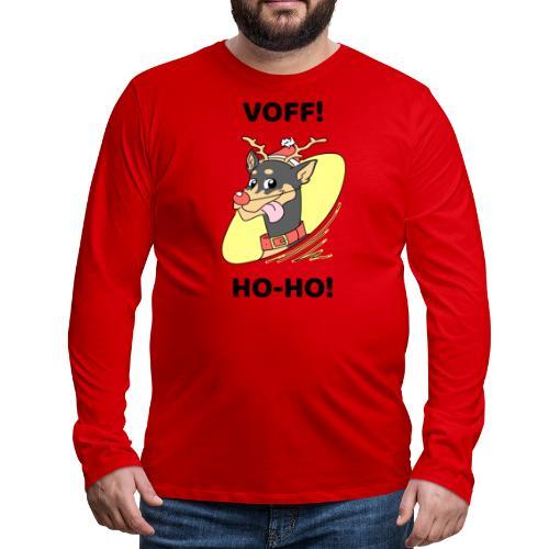 Morsomt julemotiv til hundeelsker - Premium langermet T-skjorte for menn