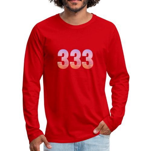 333 vous étes entouré de maitres ascensionnés - T-shirt manches longues Premium Homme