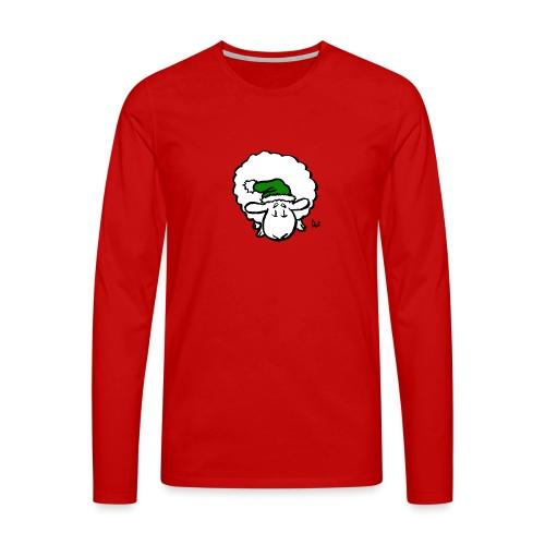Santa Sheep (green) - Premium langermet T-skjorte for menn