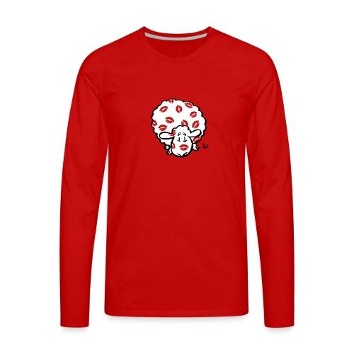 Kiss Ewe - Herre premium T-shirt med lange ærmer