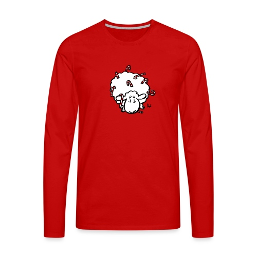Candy Cane Sheep - Premium langermet T-skjorte for menn