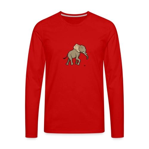 Elefante africano - Maglietta Premium a manica lunga da uomo