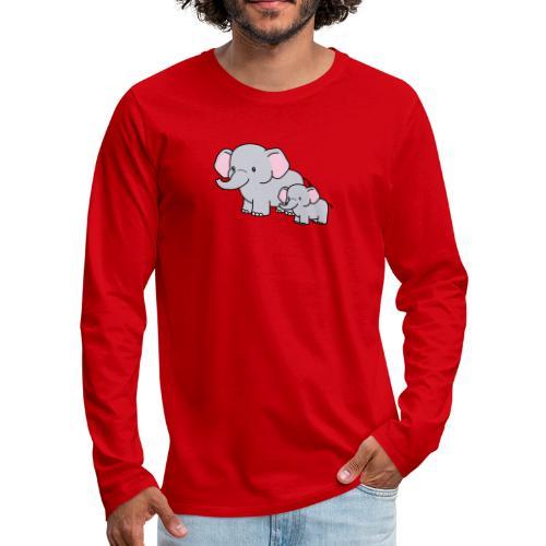Elephants - Camiseta de manga larga premium hombre
