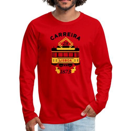 Tramway 28 Lisbonne Portugal - T-shirt manches longues Premium Homme