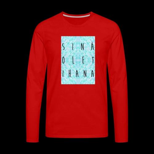 Kangaskassi - Miesten premium pitkähihainen t-paita