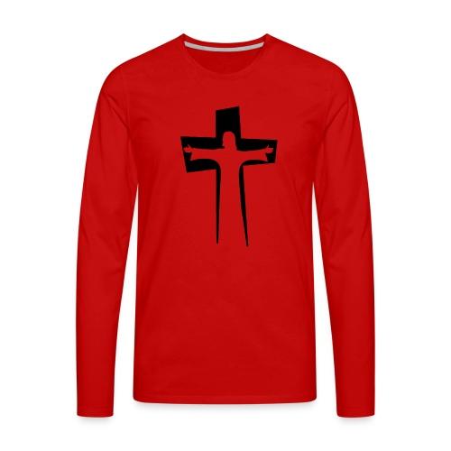 Abstrakt Jesus på korset - Långärmad premium-T-shirt herr