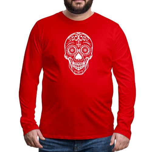 Skull white - Männer Premium Langarmshirt