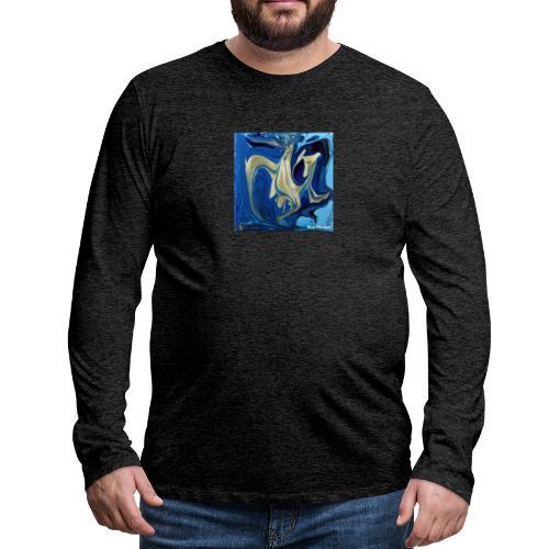TIAN GREEN Welt Mosaik - AT042 Blue Passion - Männer Premium Langarmshirt