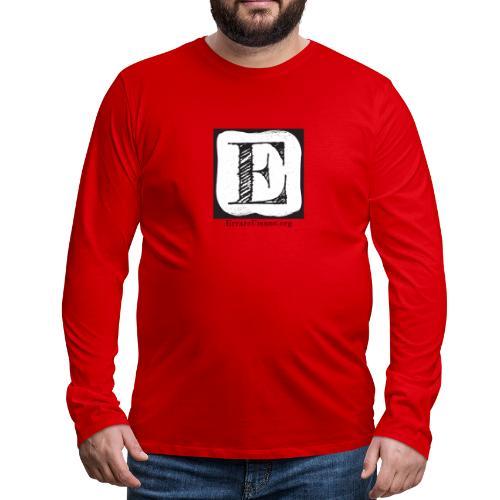 Logo ErrareUmano (scritta nera) - Maglietta Premium a manica lunga da uomo