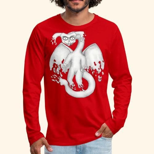 Spökdrake - Långärmad premium-T-shirt herr