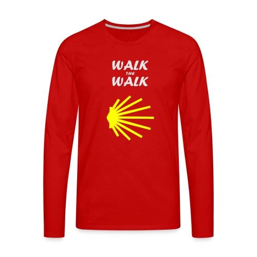 Walk the Walk - Camino de Santiago - Herre premium T-shirt med lange ærmer