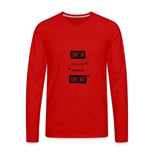 shitinshitoutblack - T-shirt manches longues Premium Homme
