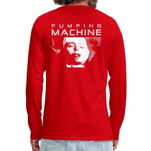 Negant logo + Pumping Machine - Herre premium T-shirt med lange ærmer