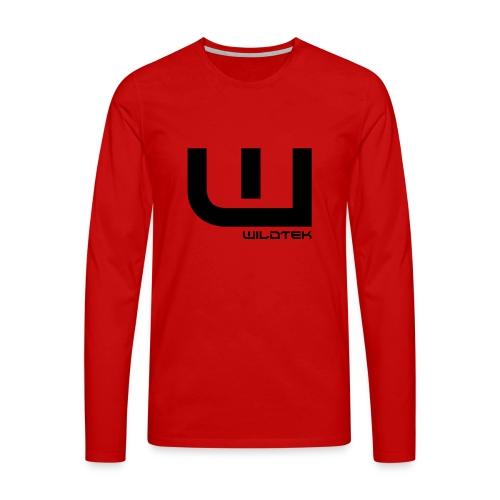 Wildtek Logo Black - Men's Premium Longsleeve Shirt