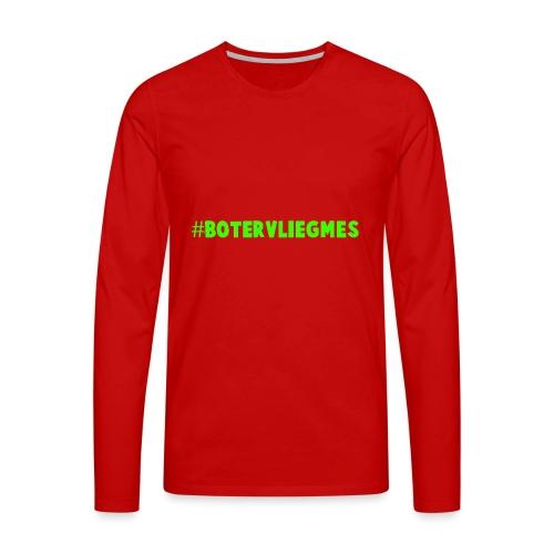Botervliegmes T-shirt (kids) - Mannen Premium shirt met lange mouwen