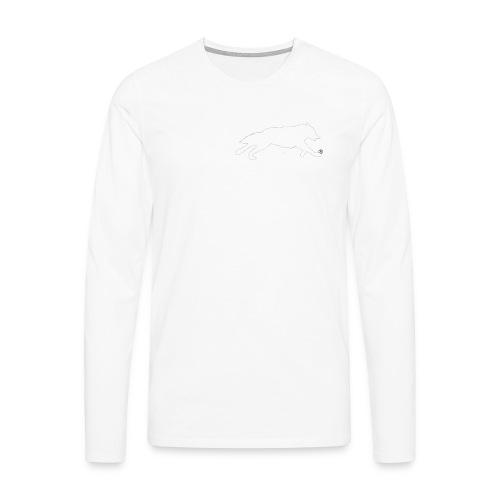 PietrzakWhite - Koszulka męska Premium z długim rękawem
