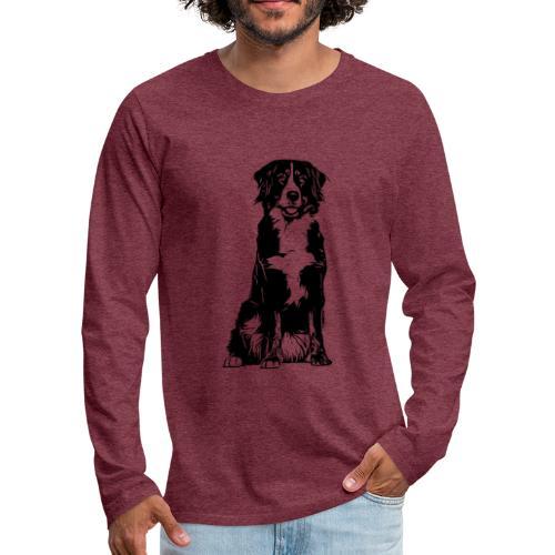 Berner Sennenhund Hunde Design Geschenkidee - Männer Premium Langarmshirt