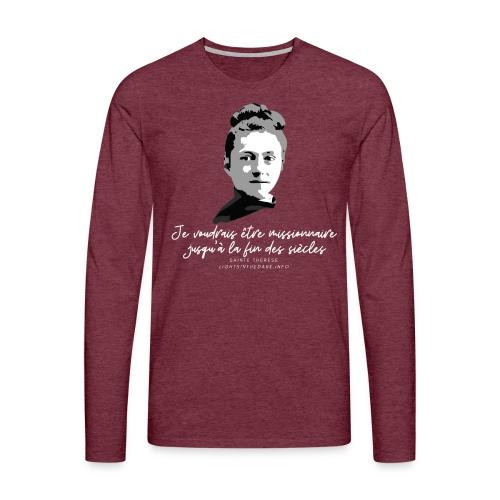 Sainte Therese patronne des missions - T-shirt manches longues Premium Homme