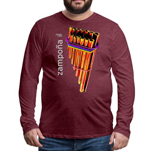 Zampoña clara - T-shirt manches longues Premium Homme