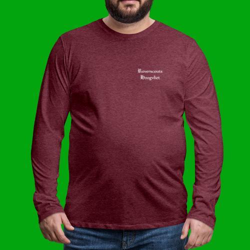 Rover logo en Tekst, Je kan zelf naam toevoegen - Mannen Premium shirt met lange mouwen