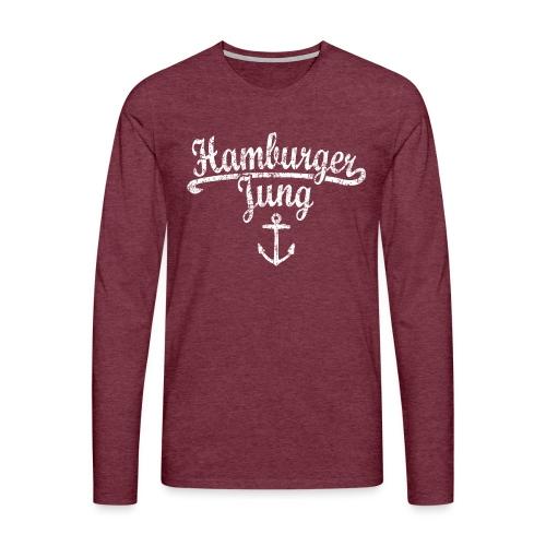 Hamburger Jung Klassik (Vintage Weiss) Hamburg - Männer Premium Langarmshirt