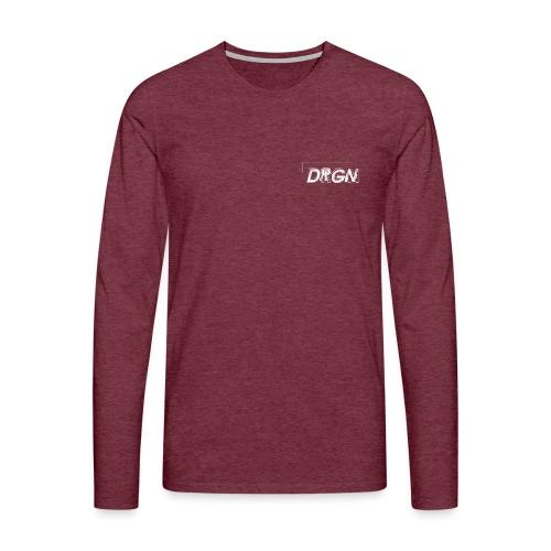 Logo marque dragon rectangle blanc - T-shirt manches longues Premium Homme