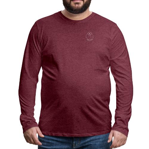 Niki Owl (blanco) - Men's Premium Longsleeve Shirt