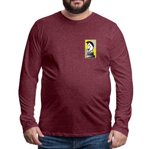 cavallo Scacchi Vers 2 - Maglietta Premium a manica lunga da uomo
