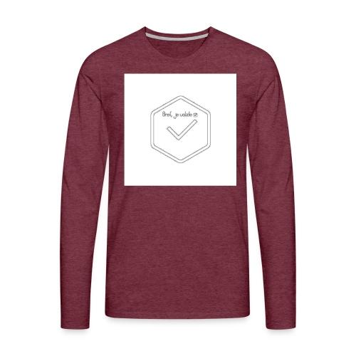 none - T-shirt manches longues Premium Homme