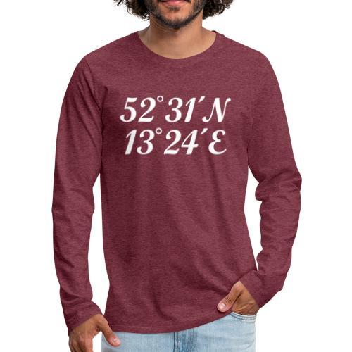 Berlin Koordinaten - Männer Premium Langarmshirt