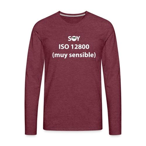 SOY ISO 12800 MUY SENSIBLE con logo - Camiseta de manga larga premium hombre