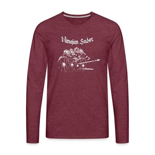 Kilpimuuri B - Miesten premium pitkähihainen t-paita