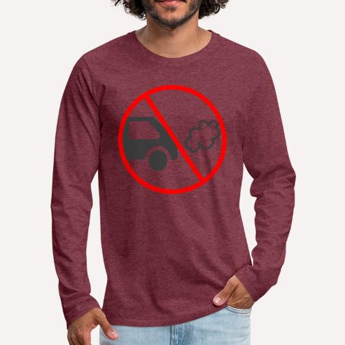 No Car Pollution climate caring print design - Men's Premium Longsleeve Shirt