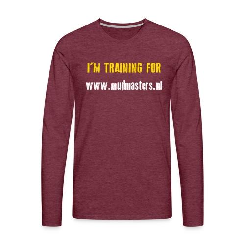 tshirt back - Mannen Premium shirt met lange mouwen