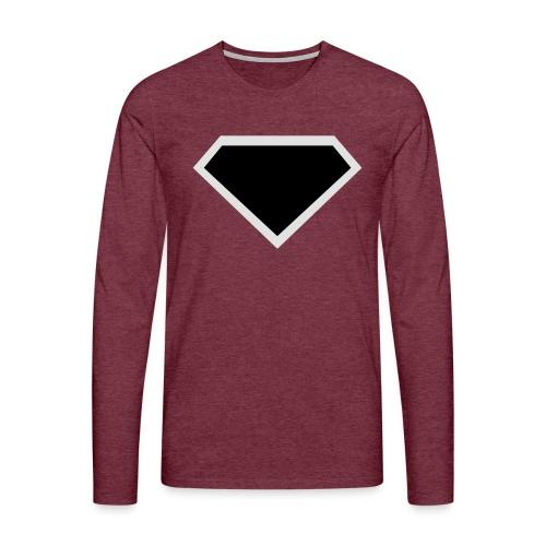 Diamond Black - Two colors customizable - Mannen Premium shirt met lange mouwen