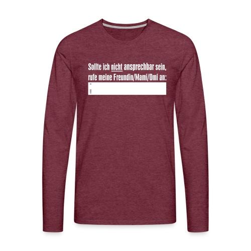ansprechbar - Männer Premium Langarmshirt