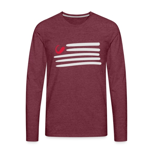 tweede - Mannen Premium shirt met lange mouwen