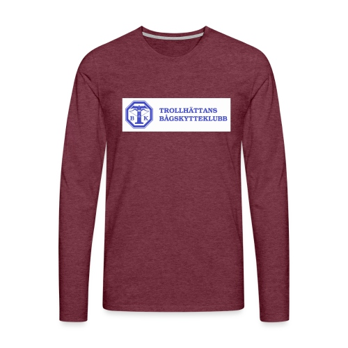 Piké Herr Slim - Tävlingströja med ryggtryck - Långärmad premium-T-shirt herr