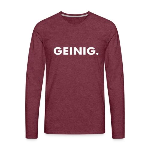 GEINIG. - Mannen Premium shirt met lange mouwen